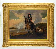 Oil on Canvas of Soldier manner of Jan Wyck