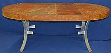 John Vesey Burlwood Dining Table with Metal Base