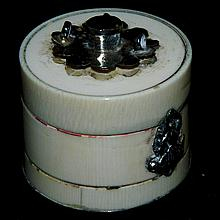 Ivory and Silver Trinket Box