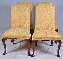Set of 4 Kittinger Upholstered Dining Room Chairs