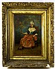 Artist Signed Oil on Board Portrait of Woman