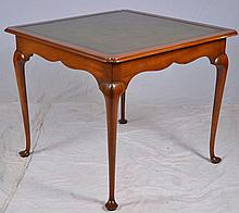 Kittinger Mahogany Table with Tooled Leather Top
