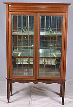 Leaded Glass Front Display Cabinet