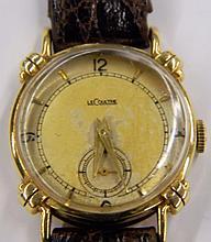14 kt. gold, LeCoultre wrist watch