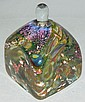 Signed art glass bottle with stopper