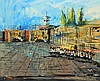 Morris Katz Oil on Board of City Scene