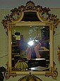 Mirror in carved frame with gilt and cream paint