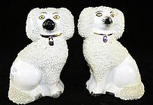 Pair of Staffordshire Dog Figures