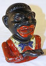 Cast Iron Mechanical Black Man Bank