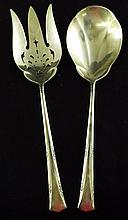 Gorham Sterling Silver Serving Fork and Spoon