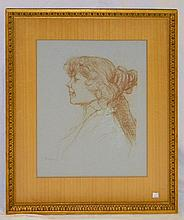 Framed Henri de Toulouse-Lautrec Portrait Print