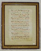 Hand Written Framed Sheet Music