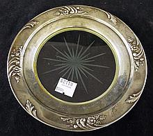 Frank M. Whiting & Co. Sterling & Glass Plate