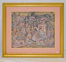 Oriental Painting on Canvas