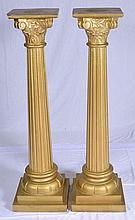 Pair of Painted Pedestals