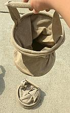 2 French Military Canvas Bucket