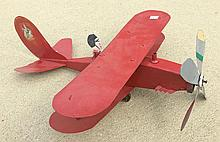 Wood & Tin Airplane Toy