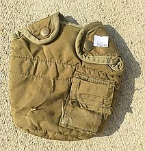 US Military Water Canteen in Pouch, Extra Pouch