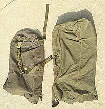 Two US Military Green Canvas Bag