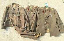 3 Military Jackets, 2 Pair of Military Pants