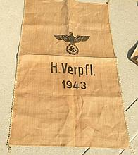 Feed Bag Stamped With Swastika H. Verpfl. 1943