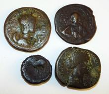 Group Of Four Ancient Coins