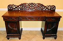 British Colonial Mahogany Sideboard