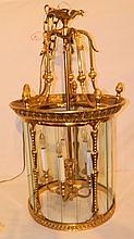 20th Century Brass Hallway Lantern