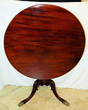 English Chippendale Tilt Top Table