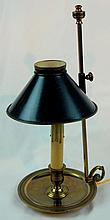 French Bronze Chamber Stick Lamp