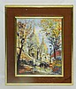 Signed Oil on Canvas of City Scene