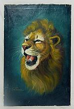Sullivan Oil on Canvas of Lion