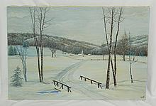 Don Manson Oil on Canvas, The First Snow