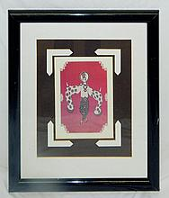 Signed Erte' Print, framed and under glass