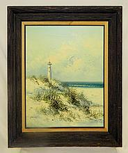 Parsons Oil on Canvas of Lighthouse