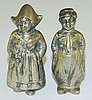 800 Silver Dutch Figurine Salt and Pepper Shakers