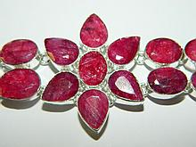 Sterling and Opaque Ruby bracelet