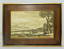 Lorraine Print of Landscape with Herd