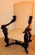 Italian 19th Century Blackamoor Chair