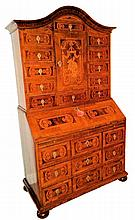 Marquetry Inlaid Secretary From Austria