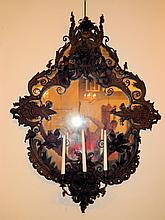 Unusual Wrought and Ornate 19th Century Mirror