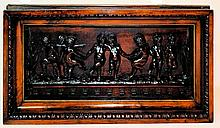 Important Barbetti Firenze Carved Wall Plaque