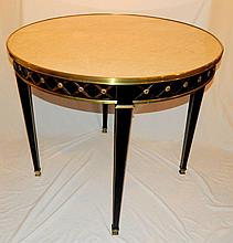 French Bronze and Marble Center Table