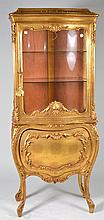 Gilt Painted Display Cabinet
