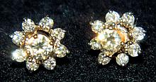 14 kt. gold and diamond earrings
