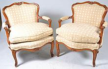 Pair of Upholstered Arm Chair