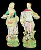 Pair of Lenwile Handpainted Porcelain Figurines