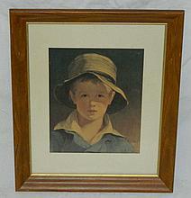 Framed Print of Boy
