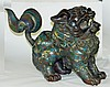 Bronze and Cloisonne Fudog