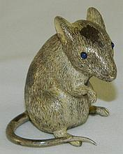 Buccellati Italy 800 Silver Mouse Figure